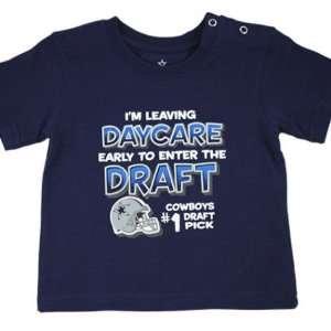 Infant Dallas Cowboys #1 Draft Pick Daycare TShirt Sports