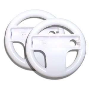 Tech 2 x Nintendo Wii Steering Wheels for Mario Kart Video Games