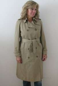 AQUASCUTUM LONDON LADIES HOUSE CHECK WOOL LINED MILITARY TRENCH COAT