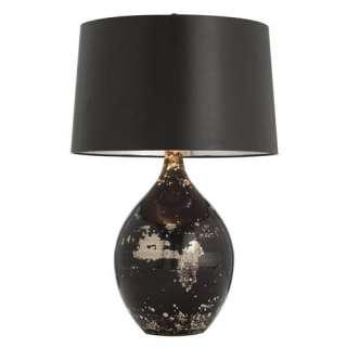 Mercury/Black Reactive Glass Art Deco Table Lamp
