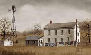 Wash Day Billy Jacobs Folk Art Prim Bath Farm Print