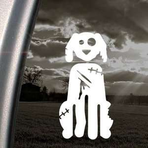 Zombie Dog Decal Truck Bumper Window Vinyl Sticker