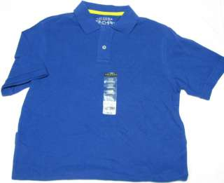 NWT Boys 14/16 (L) Arizona Jean Co. Blue Polo Shirt