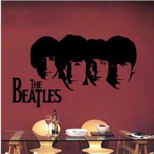 The Beatles Art Deco Vinyl Wall Paper Sticker Decal 286