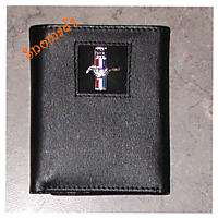 New Genuine Leather Wallet Ford Mustang 289 Logo Tri
