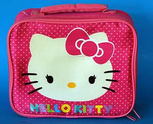New HELLO KITTY pink lunch box lunchbox soft