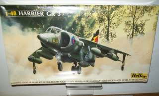 HELLER FRANCE 148 SCALE HARRIER GR 3 AIRCRAFT MODEL KIT FREE DOMESTIC