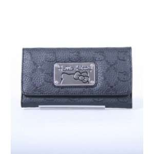 Hello Kitty Black Embossed Faux Leather Wallet