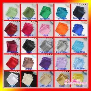 20 Satin Dinner Napkin or Pocket Handkerchief 12 Square Multi Purpose