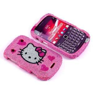 Smile Case Hello Kitty Pink Heart Bling Rhinestone Crystal
