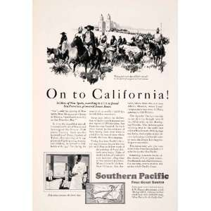 1929 Ad Southern Pacific Railroad Railway Train California