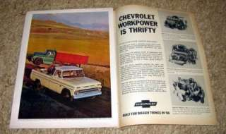 1966 Chevy Fleetside Pickup Truck Original Color Ad