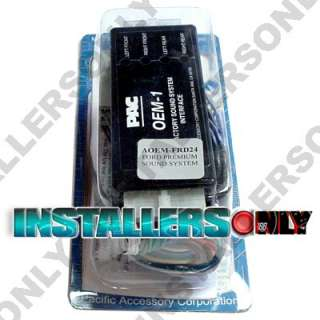 PAC AOEM FRD24 FORD LINCOLN MERCURY ADD AMP INTERFACE