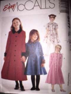 UNCUT McCalls Pattern Girls Princess Seamed Dress 8477