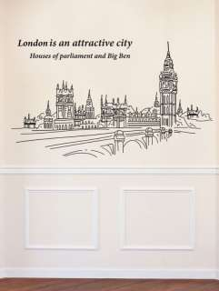 BIG Big Ben London Adheive WALL DECOR REMOVABLE STICKER