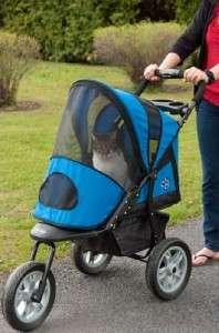 Pet Gear AT3 All Terrain Dog Stroller Blue Sky to 60#