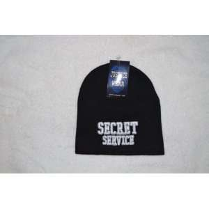 Secret Service Law Enforcement Black Skull Cap   Cuffless