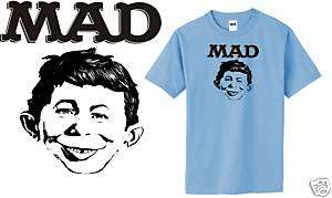 MAD magazine Alfred E. Newman retro 70s small 3XL