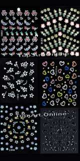 Lots Of 50 Sheets Different 3D Nail Art Decoration Design Stickers