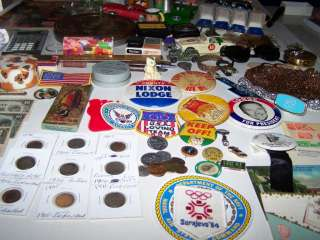 HUGE Junk Drawer lot Coins Stamps Toys Jewelry Watches Cards Pins