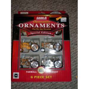 Farmall 806 Case IH Decorative Ornaments 6 piece set: Home