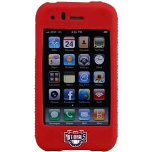 MLB Washington Nationals Red MLB Silicone iPhone Cover