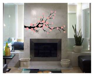 DECAL STICKER WALL ART TREE MURAL ROOM DECOR FLOWERS 00019