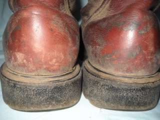 RED WING BROWN LEATHER WORK ALL WEATHER LOGGER BOOTS 11