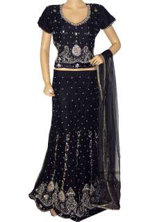 Lehenga Skirt Indian Wedding Party Wear Women Fashion Dress XL