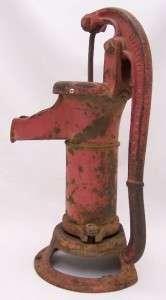 ANTIQUE Red Cast Iron Pitcher Water Pump LITTLESTOWN