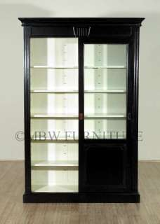 7Ft Bookcase Display Cabinet w/ Sliding Glass Doors nw006db