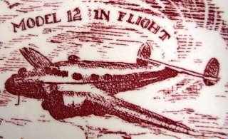 Vernon Kilns California Pottery Plate Lockheed Aircraft Corp