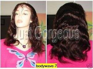 Lace Front 100% Indian Remy Human Hair Wig 16 Wavy