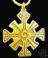 Gold Plated Celtic Hunab Ku Ying Yang Mayan charm 925
