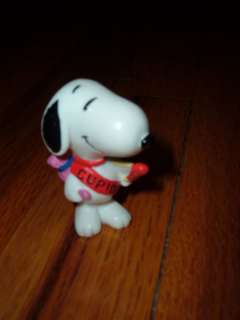 Cupid PVC Figure Valentines Day PEANUTS Charlie Brown Rare toy