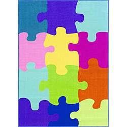 Tweens Multicolor Puzzle Piece Rug (33 x 5)