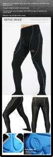 mens Cycling Bike Bicycle COOLMAX PADDED PANTS S~3XL