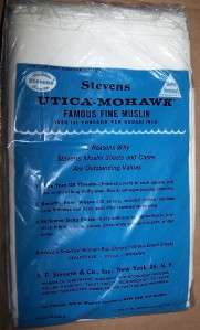 VINTAGE MUSLIN PILLOW CASES BY;STEVENS UTICA MOHAWK NIP