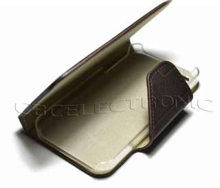 brown wallet pu leather case for apple iphone 4g 4s