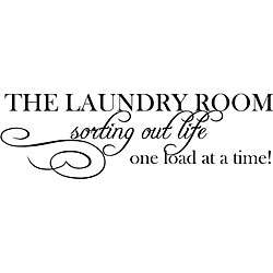 Laundry Room Sorting Life Out Vinyl Wall Art