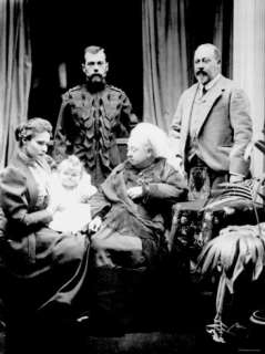 II, His Wife and Daughter and Albert, Prince of Wales, Balmoral, 1896