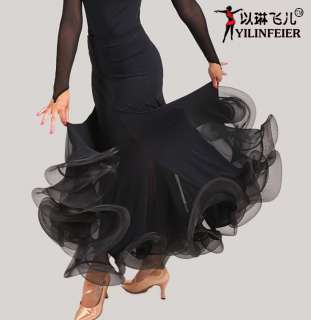 Latin salsa tango Ballroom Dance Dress #S8025 skirt