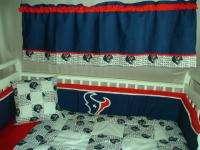 Baby Nursery Crib Bedding Set w/Houston Texans fabric