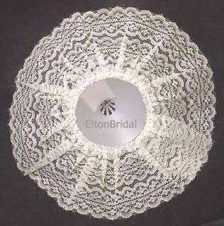 Ivory Lace Wedding Bridal Bouquet Holder Collar 12