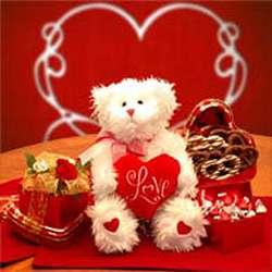 Love Me Valentine Teddy Bear with Chocolates