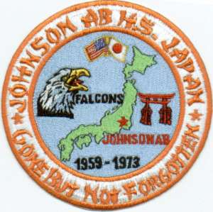 MILITARY HIGH SCHOOL PATCH, JOHNSON AIR BASE H.S. JAPAN