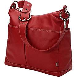 Oi Oi Pompei Red Leather Hobo Bag