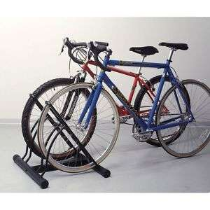 GENUINE QUALITY Two Bike Bicycle Floor Stand Rack Safe ANY DIRECTION