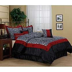Sahara Zebra Print 7 piece Comforter Set