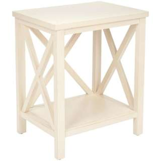 Otley White Cross Back End Table